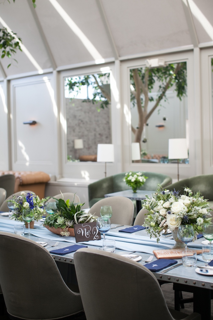 Guest table from a Modern Boy Baby Shower on Kara's Party Ideas | KarasPartyIdeas.com (10)