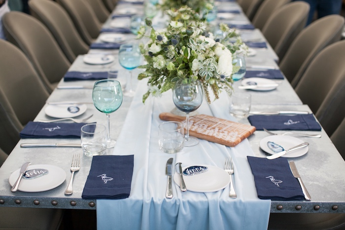 Place settings from a Modern Boy Baby Shower on Kara's Party Ideas | KarasPartyIdeas.com (9)