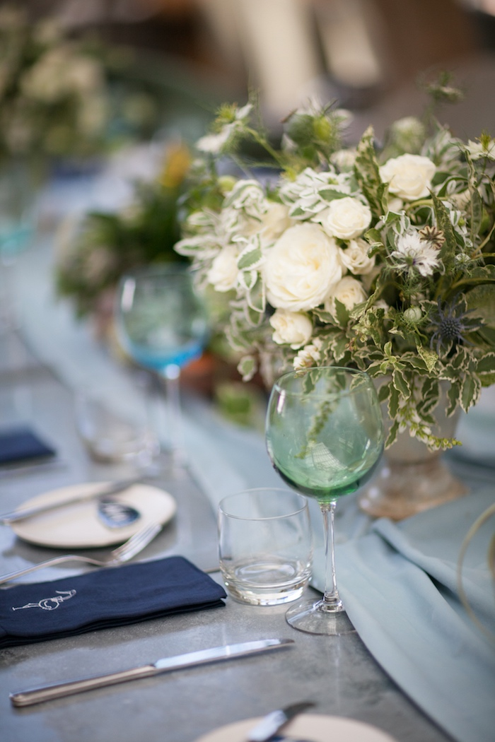 Guest tablescape from a Modern Boy Baby Shower on Kara's Party Ideas | KarasPartyIdeas.com (8)