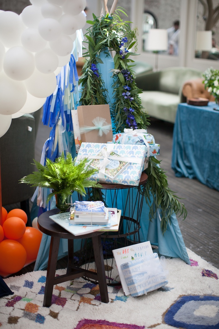 Books for baby from a Modern Boy Baby Shower on Kara's Party Ideas | KarasPartyIdeas.com (34)