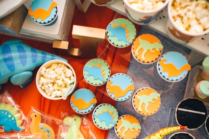 Dinosaur cupcakes from a Modern Dinosaur Birthday Party on Kara'a Party Ideas | KarasPartyIdeas.com (11)