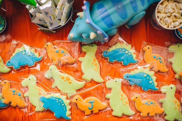Dino sugar cookies from a Modern Dinosaur Birthday Party on Kara'a Party Ideas | KarasPartyIdeas.com (10)