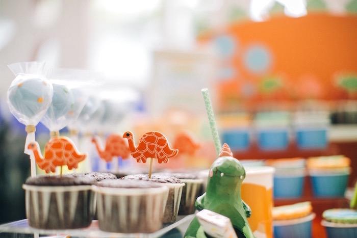 Cupcakes from a Modern Dinosaur Birthday Party on Kara'a Party Ideas | KarasPartyIdeas.com (9)
