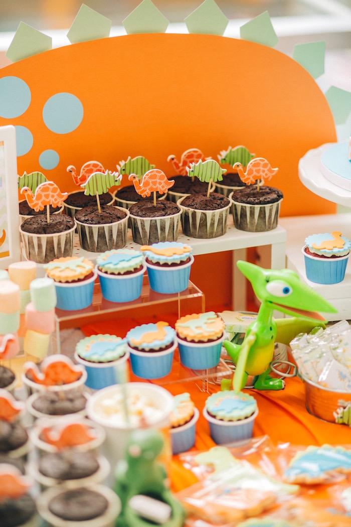 Cupcakes from a Modern Dinosaur Birthday Party on Kara'a Party Ideas | KarasPartyIdeas.com (25)
