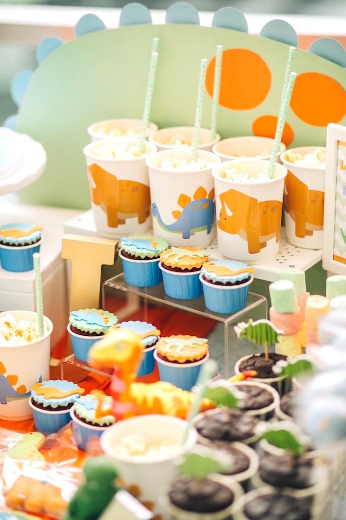 Dinosaur cups from a Modern Dinosaur Birthday Party on Kara'a Party Ideas | KarasPartyIdeas.com (22)