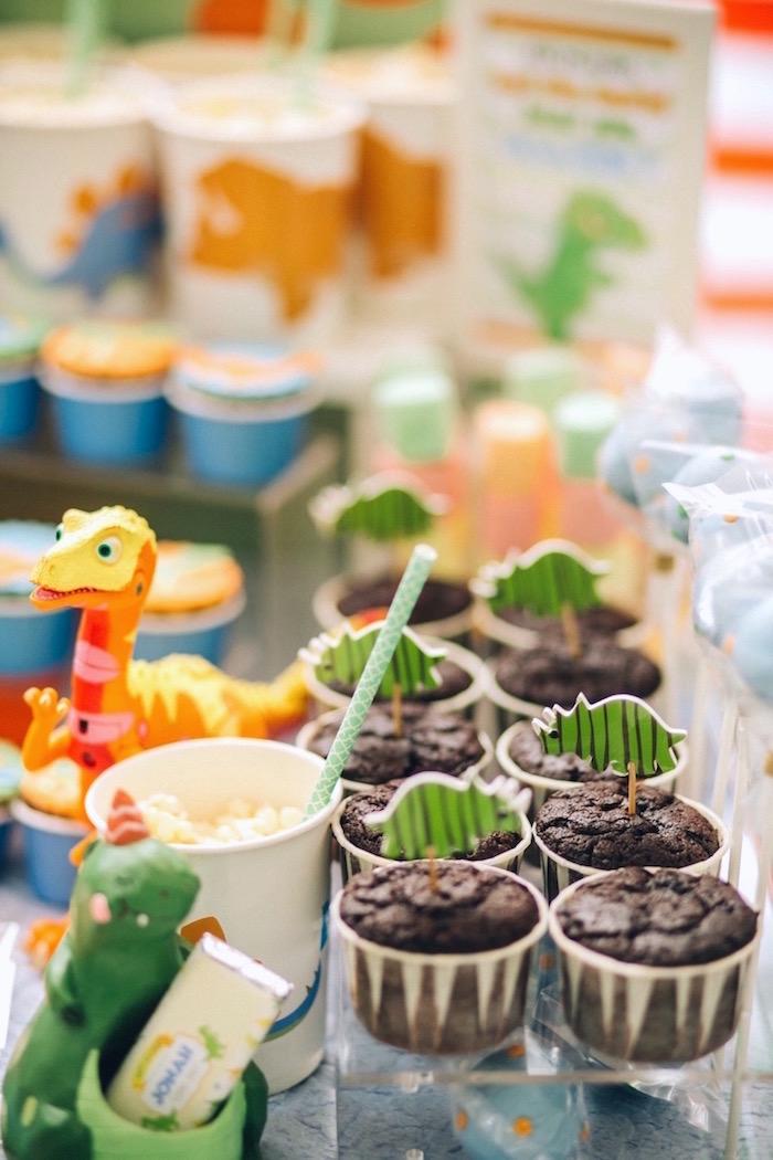 Cupcakes from a Modern Dinosaur Birthday Party on Kara'a Party Ideas | KarasPartyIdeas.com (21)