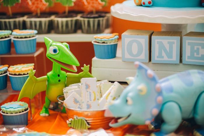 Dinosaurs from a Modern Dinosaur Birthday Party on Kara'a Party Ideas | KarasPartyIdeas.com (19)