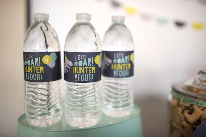 Water bottle labels from a Modern Dinosaur Birthday Party on Kara's Party Ideas | KarasPartyIdeas.com (22)
