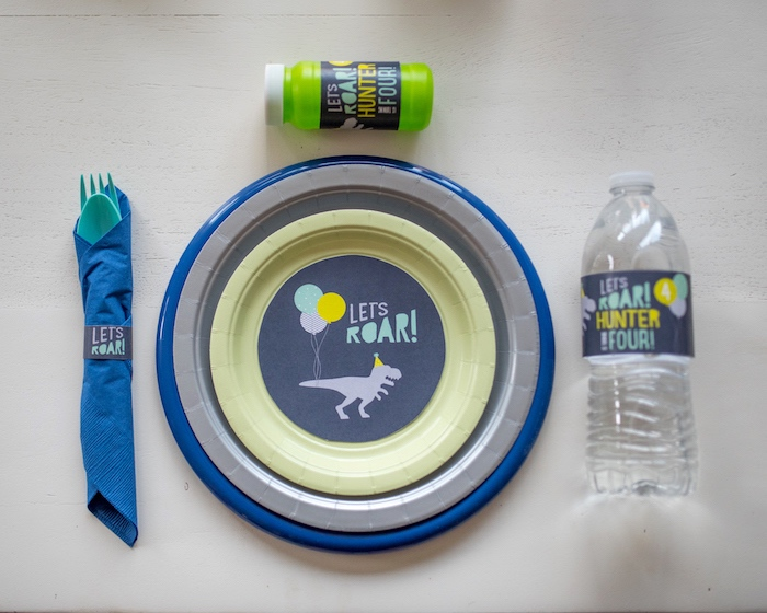 'Let's Roar' place setting from a Modern Dinosaur Birthday Party on Kara's Party Ideas | KarasPartyIdeas.com (17)