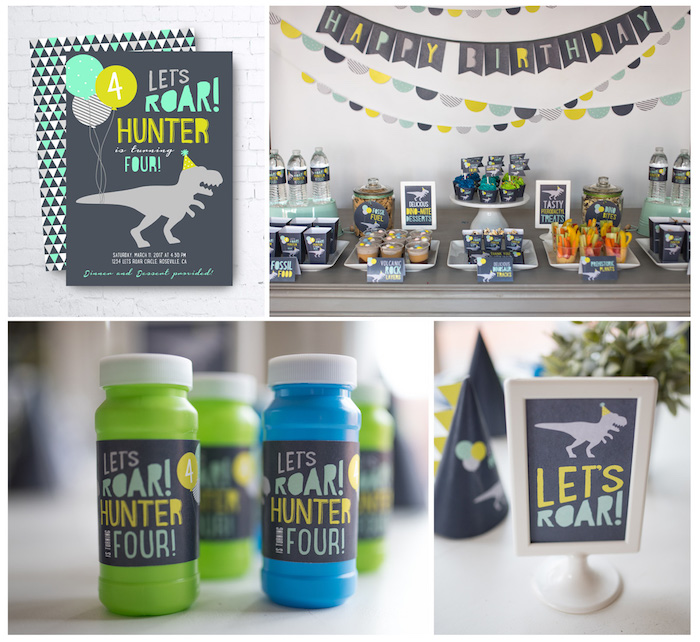Modern Dinosaur Birthday Party on Kara's Party Ideas | KarasPartyIdeas.com (35)