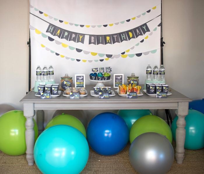 Modern Dinosaur Birthday Party on Kara's Party Ideas | KarasPartyIdeas.com (6)