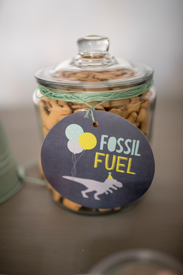 Fossil Fuel from a Modern Dinosaur Birthday Party on Kara's Party Ideas | KarasPartyIdeas.com (30)