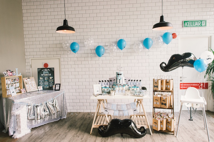 Modern Little Man Birthday Party on Kara's Party Ideas | KarasPartyIdeas.com (28)