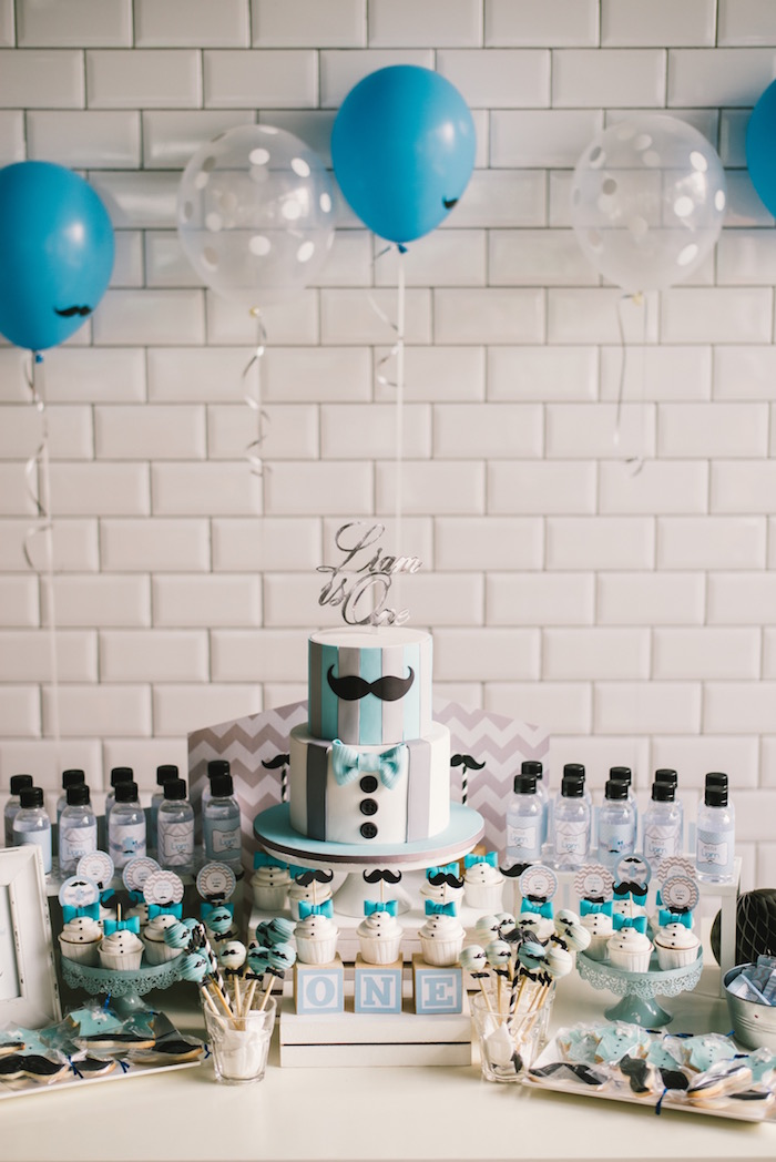 Kara S Party Ideas Modern Little Man Birthday Party Kara