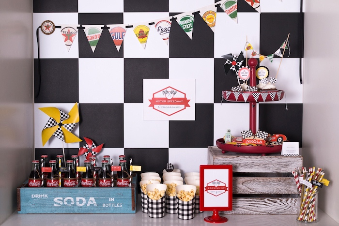Concession Stand table from a Modern Race Car Birthday Party on Kara's Party Ideas | KarasPartyIdeas.com (17)