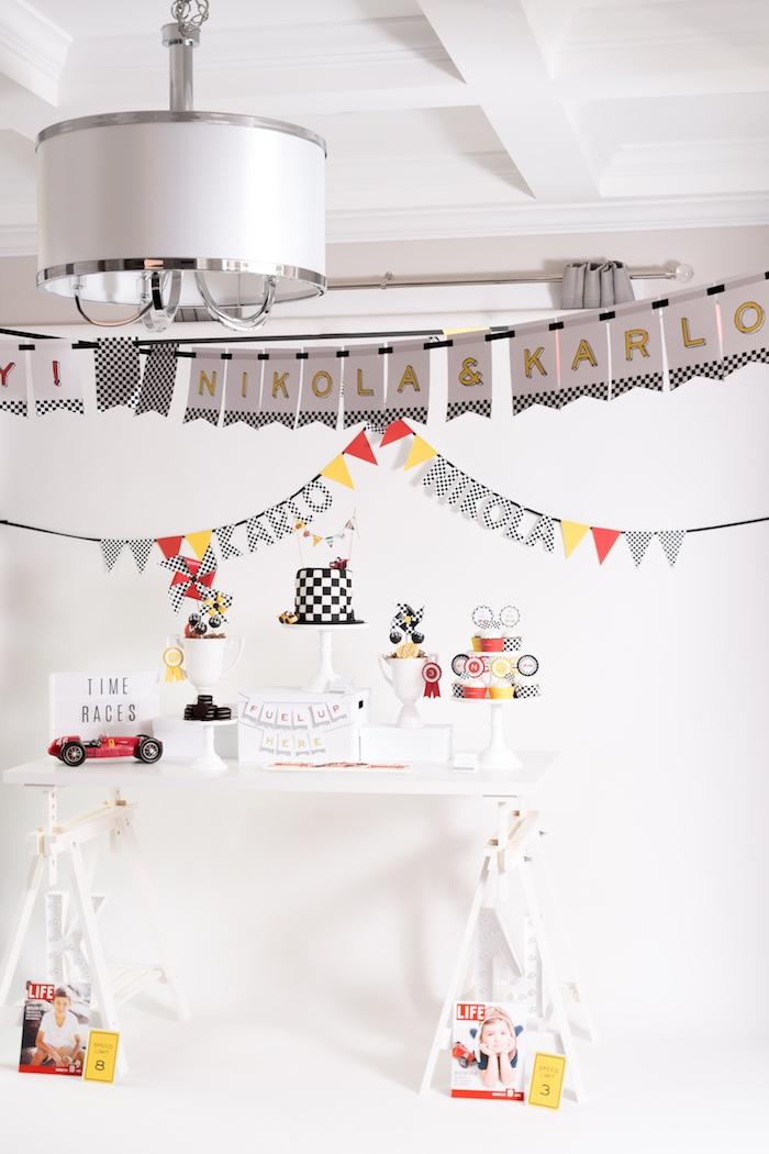 Modern Race Car Birthday Party on Kara's Party Ideas | KarasPartyIdeas.com (9)