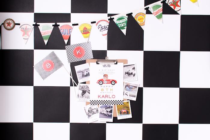 Race Car Party Invite from a Modern Race Car Birthday Party on Kara's Party Ideas | KarasPartyIdeas.com (8)