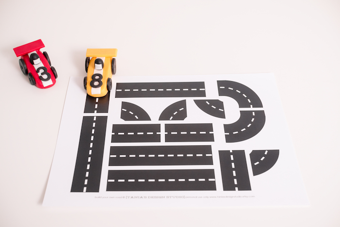 Roadway place mat from a Modern Race Car Birthday Party on Kara's Party Ideas | KarasPartyIdeas.com (4)