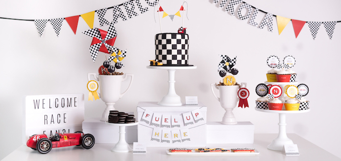 Modern Race Car Birthday Party on Kara's Party Ideas | KarasPartyIdeas.com (2)