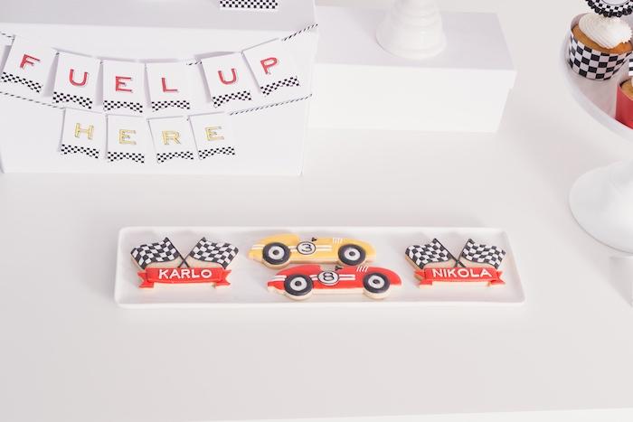 Raceway sugar cookies from a Modern Race Car Birthday Party on Kara's Party Ideas | KarasPartyIdeas.com (31)