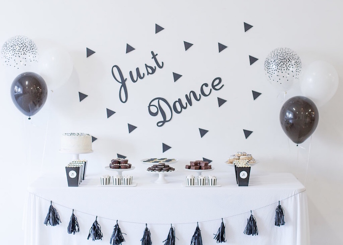 Monochromatic Just Dance Birthday Party on Kara's Party Ideas | KarasPartyIdeas.com (27)