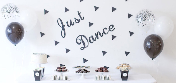 Monochromatic Just Dance Birthday Party on Kara's Party Ideas | KarasPartyIdeas.com (4)
