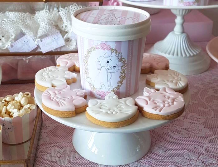 "Aristocats cookies from a Parisian ""Aristocats"" Birthday Party on Kara's Party Ideas 