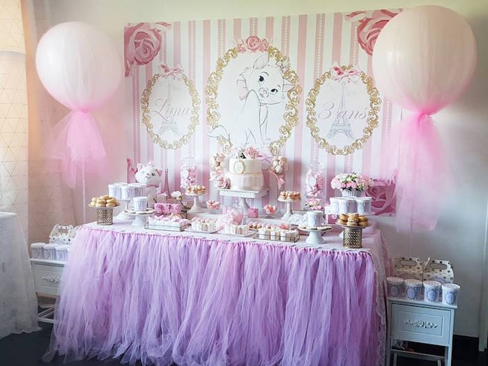 "Parisian ""Aristocats"" Birthday Party on Kara's Party Ideas 