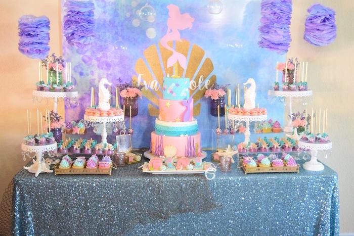 "Pastel ""Let's Be Mermaids"" Birthday Party via Kara's Party Ideas | KarasPartyIdeas.com on Kara's Party Ideas | KarasPartyIdeas.com (10)"
