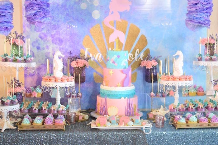 "Pastel ""Let's Be Mermaids"" Birthday Party via Kara's Party Ideas | KarasPartyIdeas.com on Kara's Party Ideas | KarasPartyIdeas.com (7)"