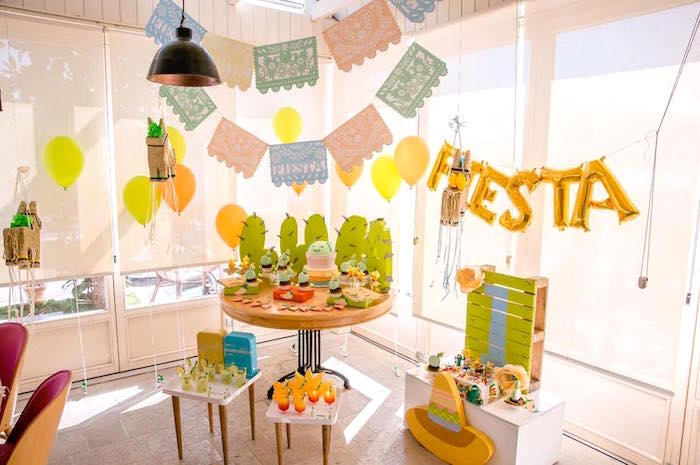 Pastel Fiesta Cactus Birthday Party on Kara's Party Ideas | KarasPartyIdeas.com (15)