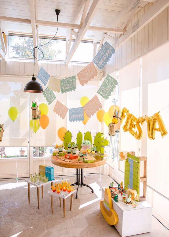 Pastel Fiesta Cactus Birthday Party on Kara's Party Ideas | KarasPartyIdeas.com (8)