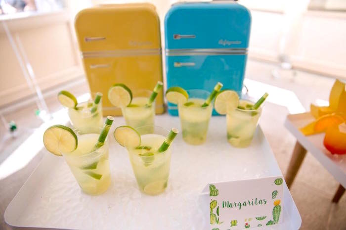 Drinks from a Pastel Fiesta Cactus Birthday Party on Kara's Party Ideas | KarasPartyIdeas.com (19)