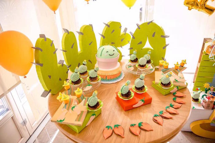 Pastel Fiesta Cactus Birthday Party on Kara's Party Ideas | KarasPartyIdeas.com (17)