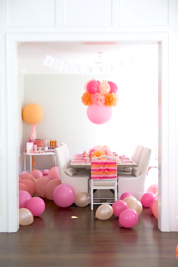 Peach and Pink Ombre Watercolor 13th Birthday Party on Kara's Party Ideas | KarasPartyIdeas.com (24)