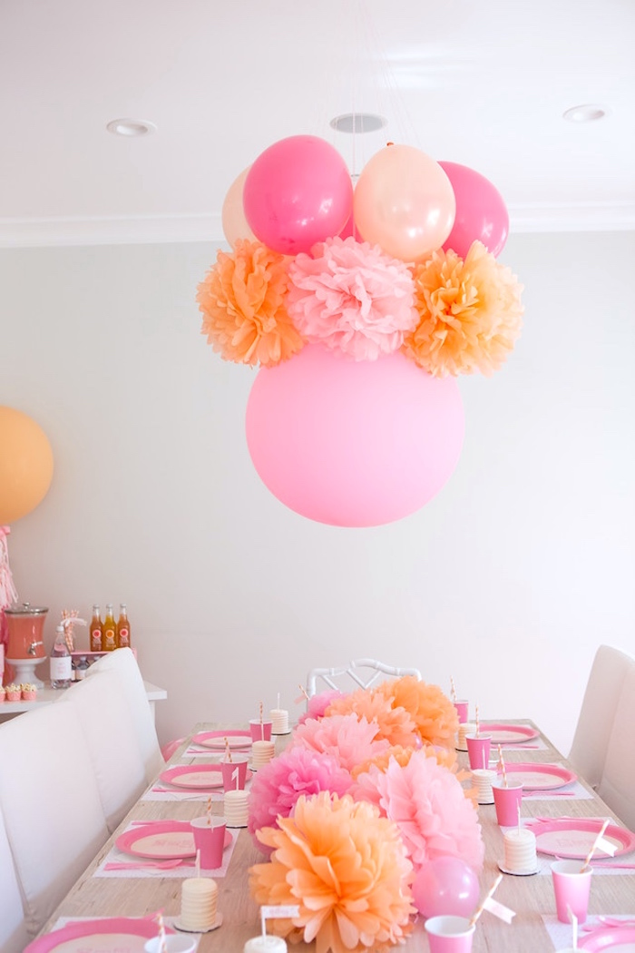 Peach and Pink Ombre Watercolor 13th Birthday Party on Kara's Party Ideas | KarasPartyIdeas.com (18)