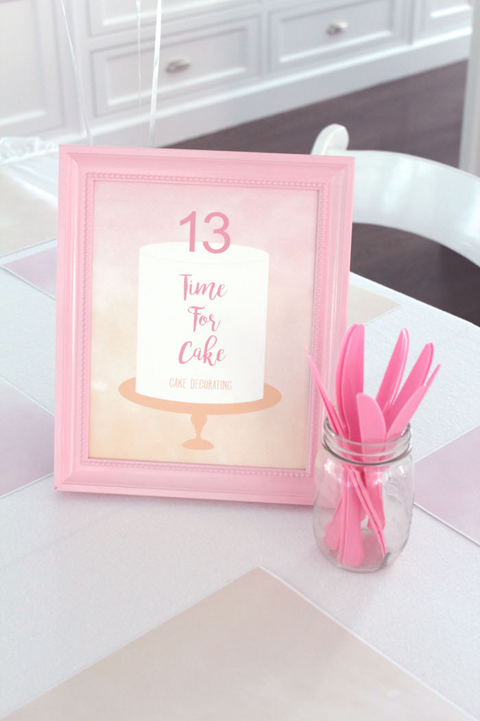 Peach and Pink Ombre Watercolor 13th Birthday Party on Kara's Party Ideas | KarasPartyIdeas.com (15)