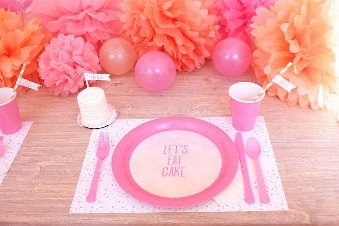 Peach and Pink Ombre Watercolor 13th Birthday Party on Kara's Party Ideas | KarasPartyIdeas.com (12)