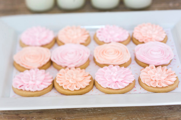 Cookies from a Peach and Pink Ombre Watercolor 13th Birthday Party on Kara's Party Ideas   KarasPartyIdeas.com (32)