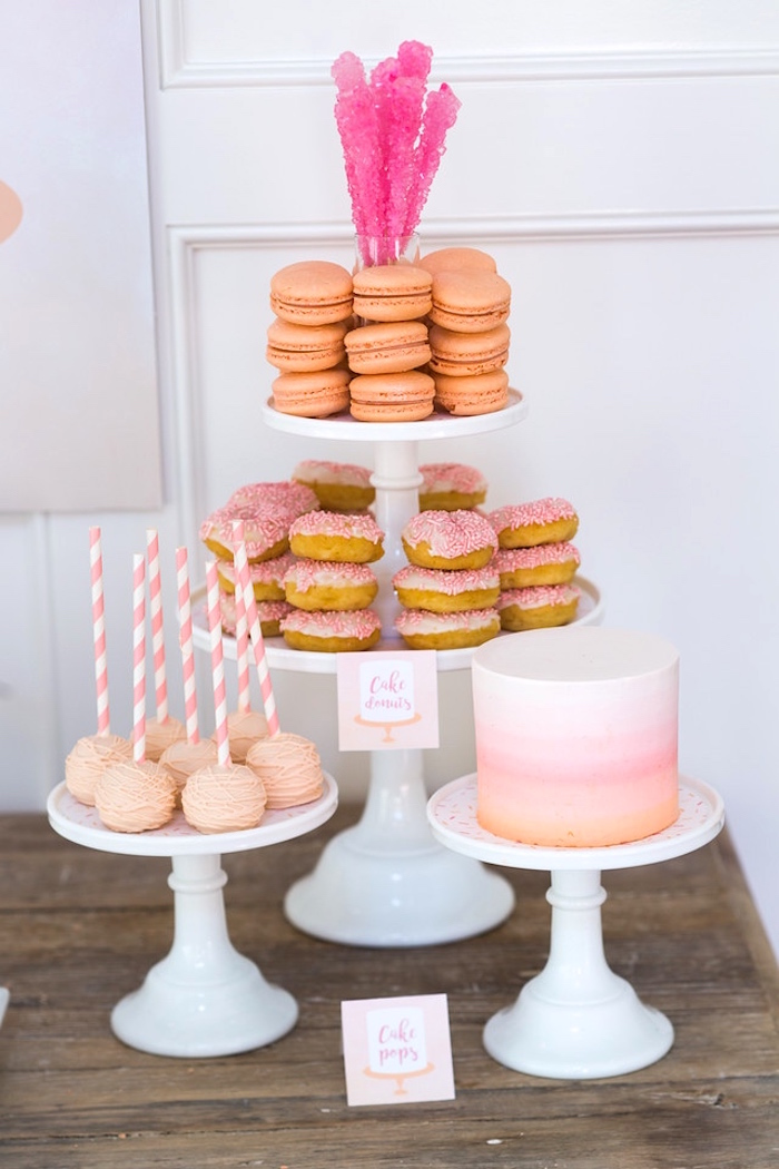 Sweets from a Peach and Pink Ombre Watercolor 13th Birthday Party on Kara's Party Ideas | KarasPartyIdeas.com (30)