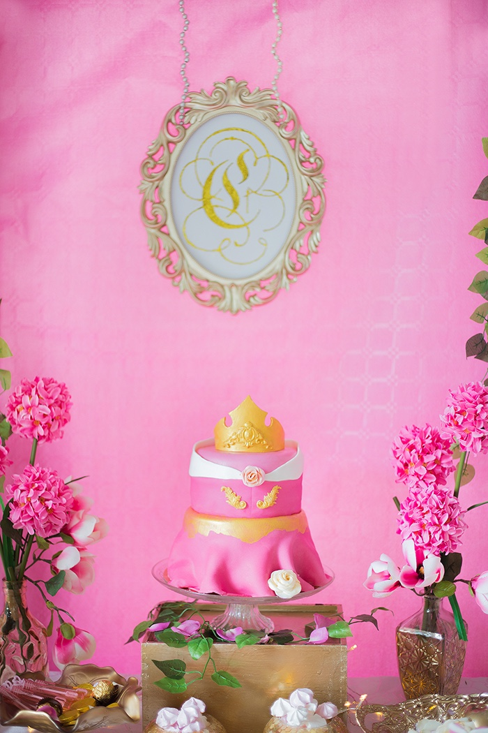 Sleeping Beauty Dress Cake from a Perfectly Pink Sleeping Beauty Birthday Party on Kara's Party Ideas | KarasPartyIdeas.com (17)