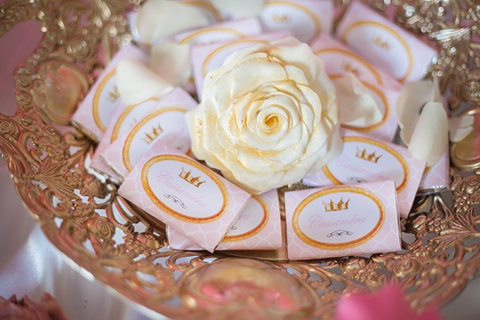 Candy bar wrappers from a Perfectly Pink Sleeping Beauty Birthday Party on Kara's Party Ideas | KarasPartyIdeas.com (23)