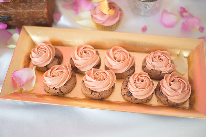 Chocolate Chip Rosette Cookies from a Perfectly Pink Sleeping Beauty Birthday Party on Kara's Party Ideas | KarasPartyIdeas.com (22)