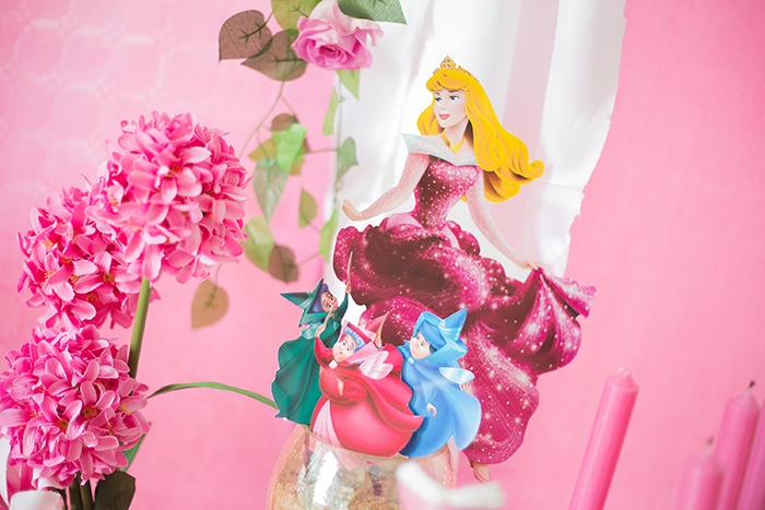 Aurora and Fairies from a Perfectly Pink Sleeping Beauty Birthday Party on Kara's Party Ideas | KarasPartyIdeas.com (21)