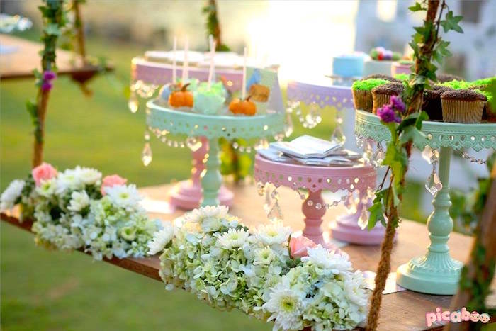 Sweet table from a Peter Rabbit Garden Birthday Party on Kara's Party Ideas | KarasPartyIdeas.com (23)