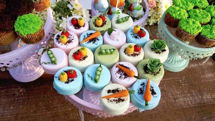 Chocolate covered Oreos from a Peter Rabbit Garden Birthday Party on Kara's Party Ideas | KarasPartyIdeas.com (34)