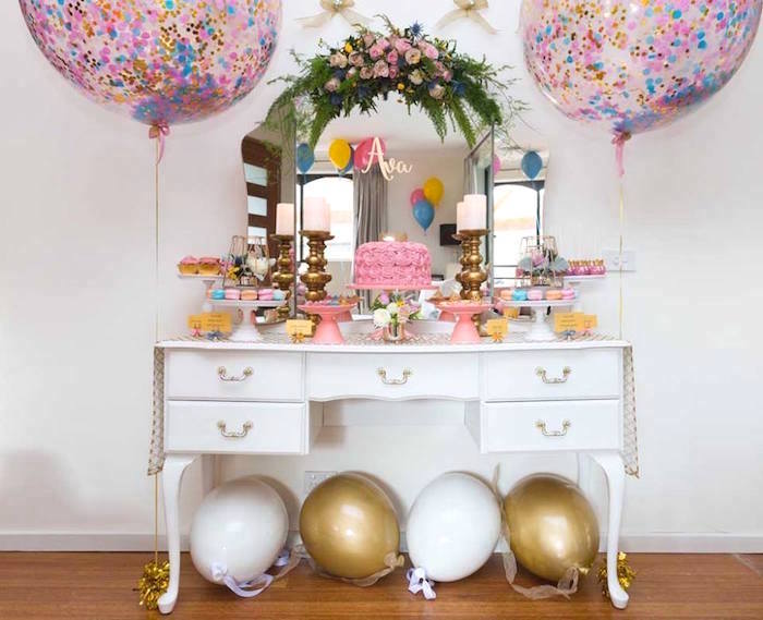 Pink and Gold Princess Birthday Party on Kara's Party Ideas | KarasPartyIdeas.com (11)