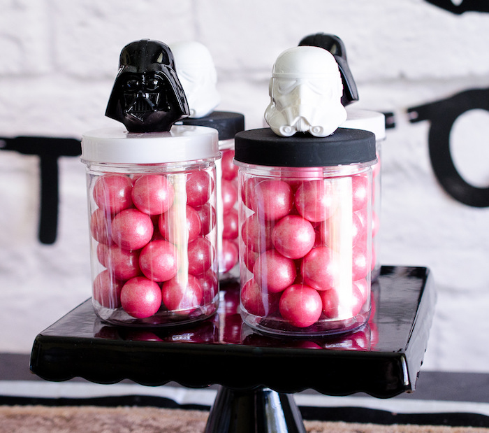 Girly Star Wars favor jars from a Pink and Sparkly Star Wars Party on Kara's Party Ideas | KarasPartyIdeas.com (8)