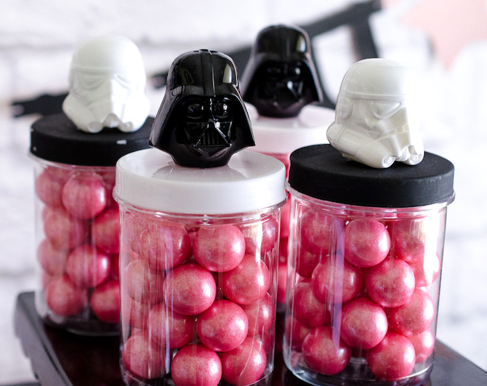 Girly Star Wars favor jars from a Pink and Sparkly Star Wars Party on Kara's Party Ideas | KarasPartyIdeas.com (7)