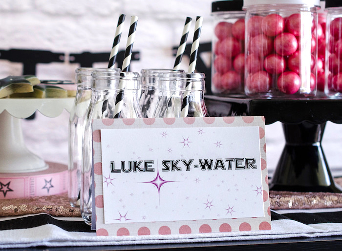 Luke Sky-Water from a Pink and Sparkly Star Wars Party on Kara's Party Ideas | KarasPartyIdeas.com (10)